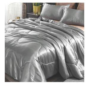 🆕European Style Satin Silky Soft QuiltComforter